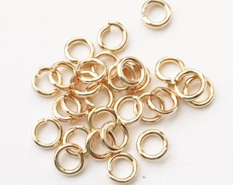 200 pcs of Gold plated jumprings 5mm,18 gauge, open jumprings, light gold jumprings, bulk gold jump rings