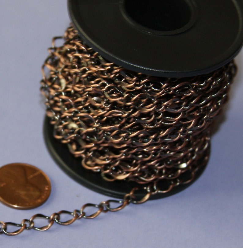 32ft Figure 8 Connector Chain Soldered Link 5x3.5mm