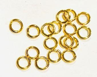 Bulk 500 Gold Plated jumpring 6mm round 18 gauge