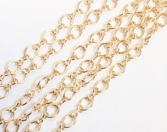 Bulk 45ft  light gold plated chain, gold plated  steel large  figure 8 chain 4.1X 6.1mm, bulk gold chain