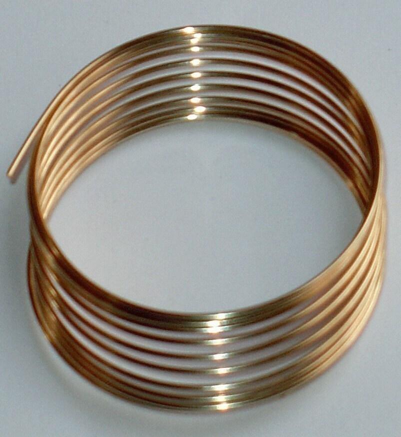 5 ft of 14K Gold filled round wire half hard 22g | Etsy