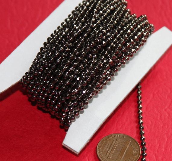 bobine de 100 pieds de chaîne boule à facettes bronze 2,4 mm de haute qualité