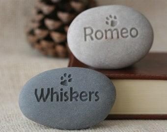 Personalized pet memorial stone - pet loss gift - pet memorial gift - mini to small size memorial stones
