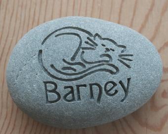 Cat Memorial Stone - Personalized Engraved Pet Memorial Stone