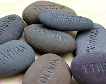 Personalized engraved gift - All My Children - Set of 1~5 Name Rocks