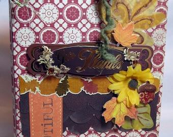 Scrapbook Thanksgiving Mini Flip Album by Kitsnbitscraps
