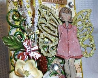 Mixed Media  Art Canvas Julie Nutting Doll - Kitsnbitscraps