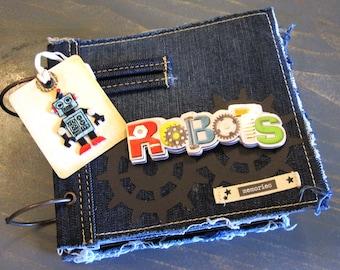 Scrapbook Mini Album Boy Robots