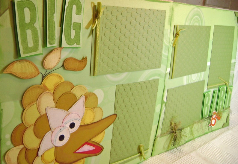Big Bird Sesame Street Premade Paper Piecing