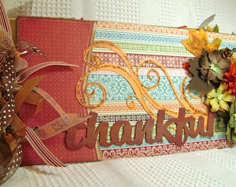 Scrapbook Thanksgiving Premade Album Family - kitsnbitscraps