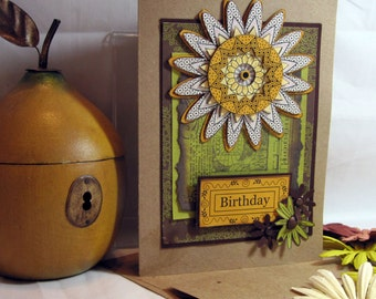 Birthday Stamped Card  - Kitsnbitscraps