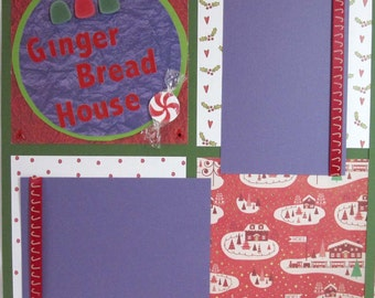 Scrapbook Pages Premade Christmas Ginger Bread House - kitsnbitscraps