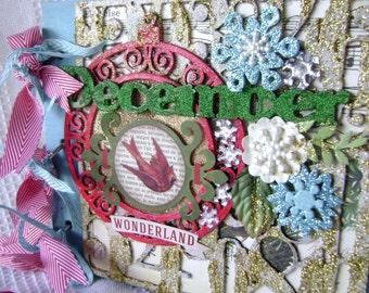 Scrapbook Christmas Album by Kitsnbitscraps