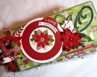 Scrapbook Christmas Mini Album by Kitsnbitscraps