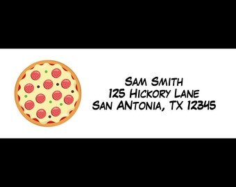 30 Personalized Pizza Party Address Labels  -  Pizza Party -  Pizza Birthday Party