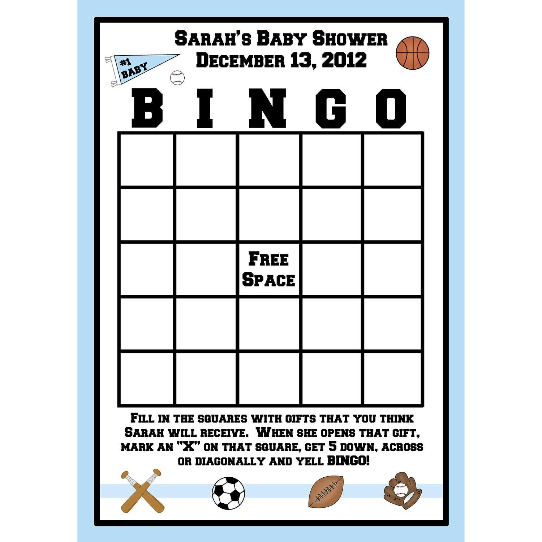 24 Bingo Cards For Baby Shower Sport Theme Etsy