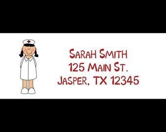 30 Personalized Return Address Labels    - Nurse