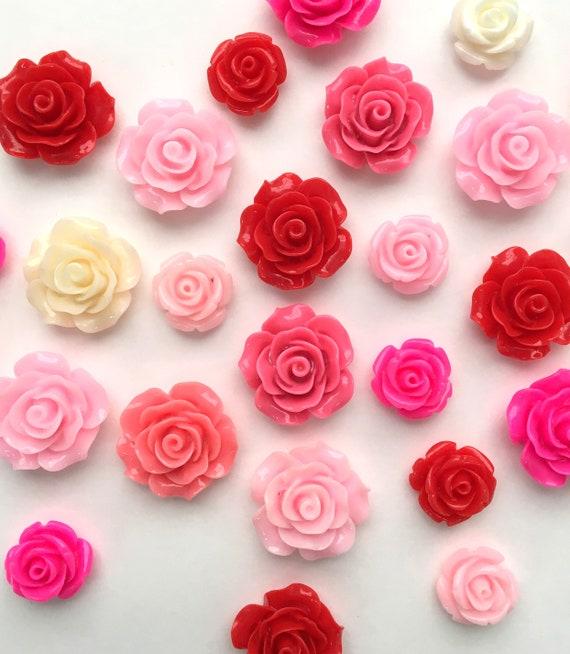 Pink flower magnet