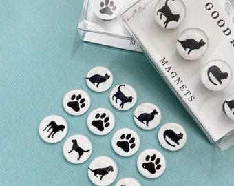 Dog magnet set, Paw print magnet, Cat magnet, dog sitter, cat sitter, dog walker, dog mom gift, dog dad, fridge magnet, pet parent, cat mom