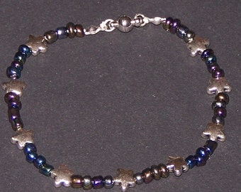 night sky with stars bracelet
