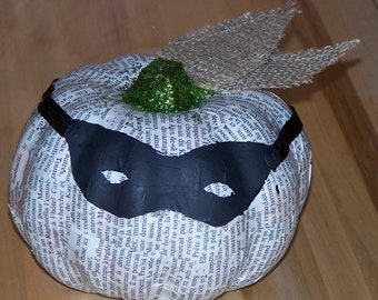 Book Page Pumpkin with Mask