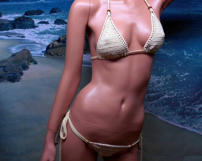 Featured listing image: Erotic Crochet, Thong Bikini set