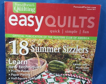 Easy Quilts magazine, Summer 2011 issue