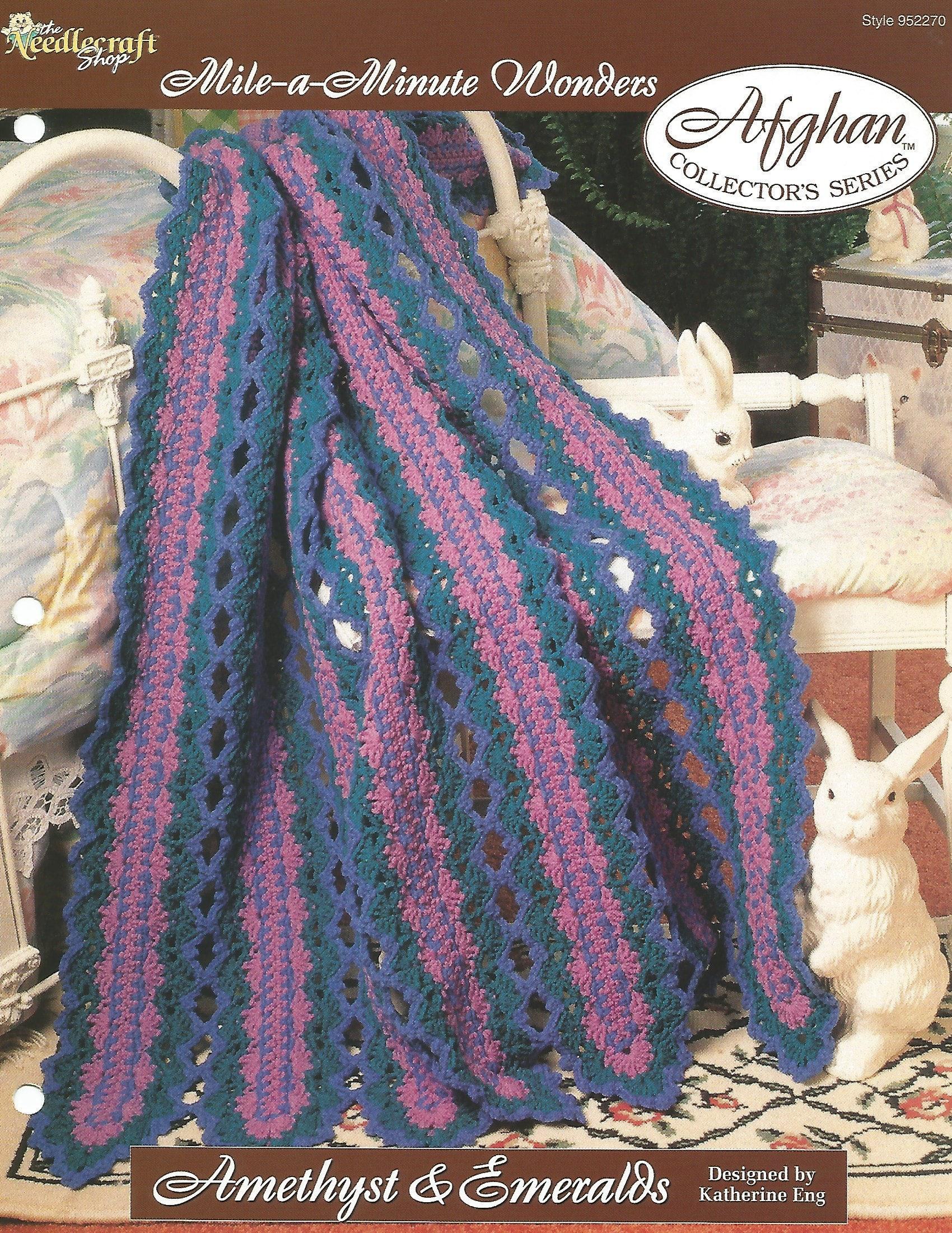 Mile A Minute Wonders Crochet Pattern Leaflet Amethyst Emeralds