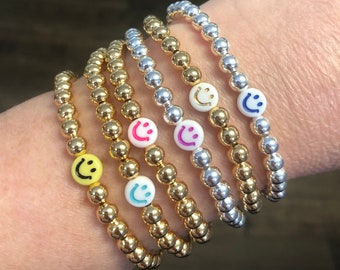 Smiley Face Beaded Bracelets