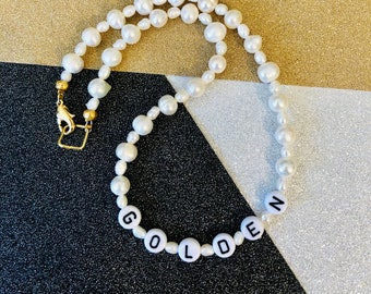 Harry Styles Golden Inspired Pearl Necklace, available in several lengths