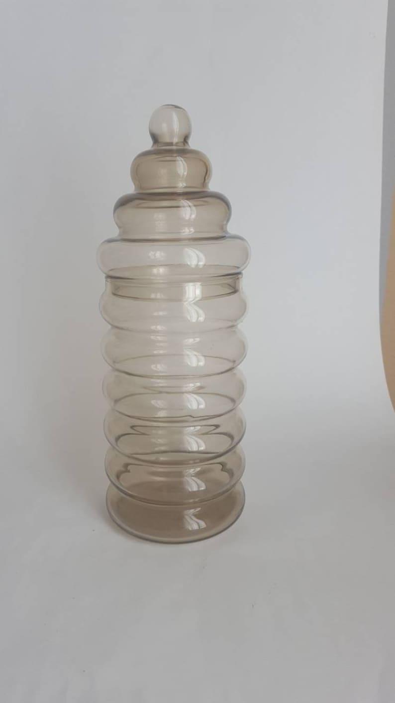 Jacob Bang Smoked Glass Lidded Jar PRIMULA holmegaard art | Etsy