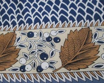 Vintage Silk Scarf Fallen Leaves & Berries - Jean Parel - Made in Italy