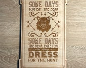 Adventurers Club Motto - Wood Engraved Sign
