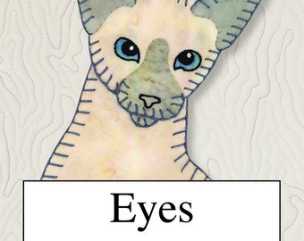 Tutorial -- EYES -- A Stitch Guide for Applique and Embroidered Quilts -- Tri-fold Brochure -- Handy Sewing Reference Sheet