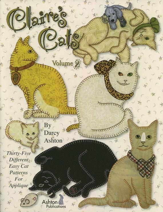 Quilt Book Claires Cats Volume 2 35 Unique Cat Patterns Etsy