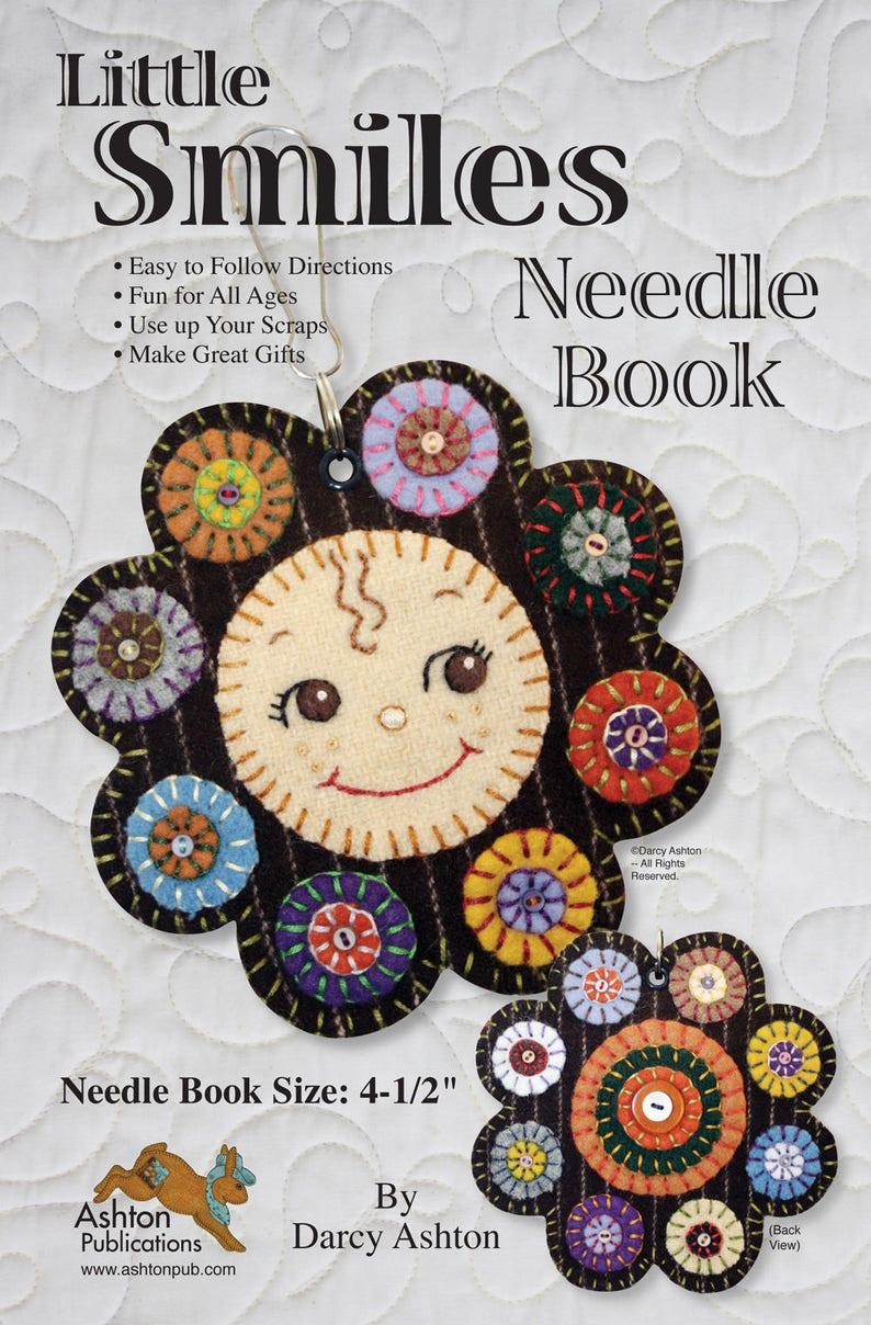 Pattern Needle Keeper Sewing Pattern Needle Book Pattern Wool Penny Needle Keeper Penny Rug Pattern Cute Baby Face Pattern