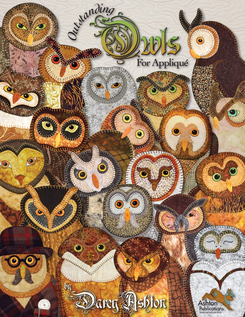 Quilt Book  Outstanding Owls  Applique Quilting Pattern Owl Book