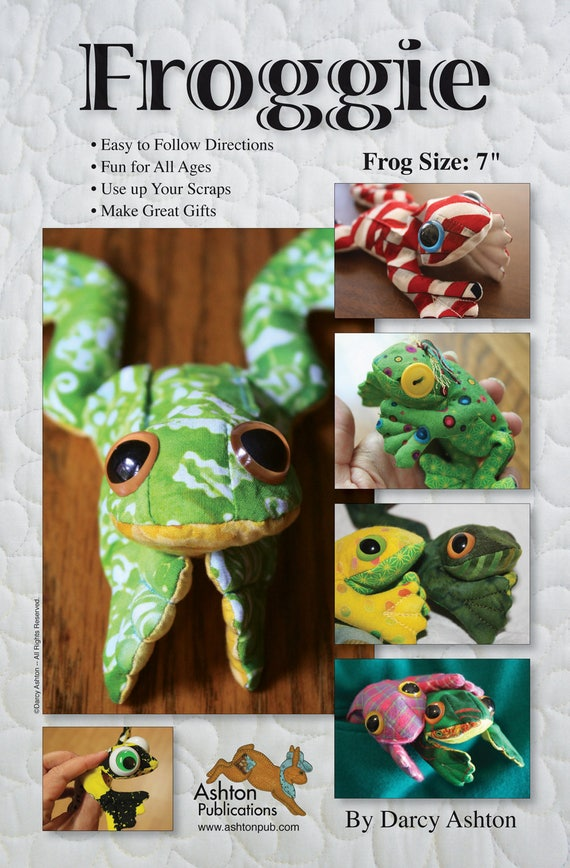quilted and stuffed with Rice Frog