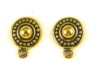 G8-5 4 4 Pcs Gold Tierracast Toggle Clasp Simple Classic Tapered Jewelry Finding Hoop and Bar Toggle Set