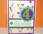 Happy 4th Birthday Card