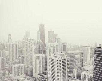 Chicago2 fine art print- urban, chicago, landscape, city, loft art, split tone