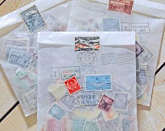 Vintage Postage Stamps Variety Pack