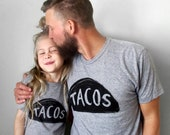 Father Son Matching Taco shirts, Father Daughter Outfit,father day shirt, father son outfit,matching tshirt,dad and baby matching, dad tees