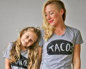 Mommy and Me Matching Taco Shirts Outfit, wife birthday Taco Tuesday shirt mom gift funny gift for her son daughter from husband baby tshirt