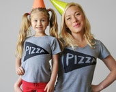 Mother Daughter Pizza t shirt, mom gift from daughter, funny tshirts, Mommy and me outfit, family photo ideas, pizza shirts, mom life shirt