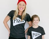 Funny Mother's Day Gift : Mother Daughter Son Pizza Shirts, mom gift mommy and me mother day funny pizza tshirt matching outfit tee birthday