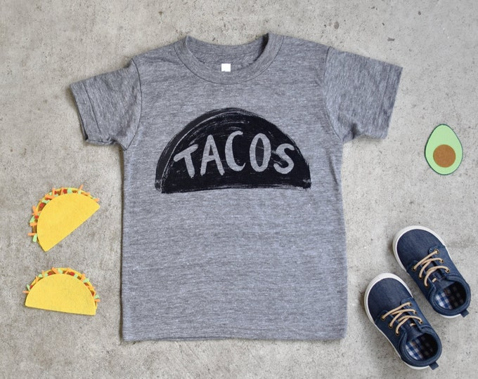 Child Taco USA Made T Shirt, graphic tee for kids, taco twosday toddler boy girl clothes, dragons love tacos  party