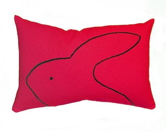 Rabbit Pillow for IKEA Duktig Doll Beds by Xenotees, pet rabbit gift for mom dad kids