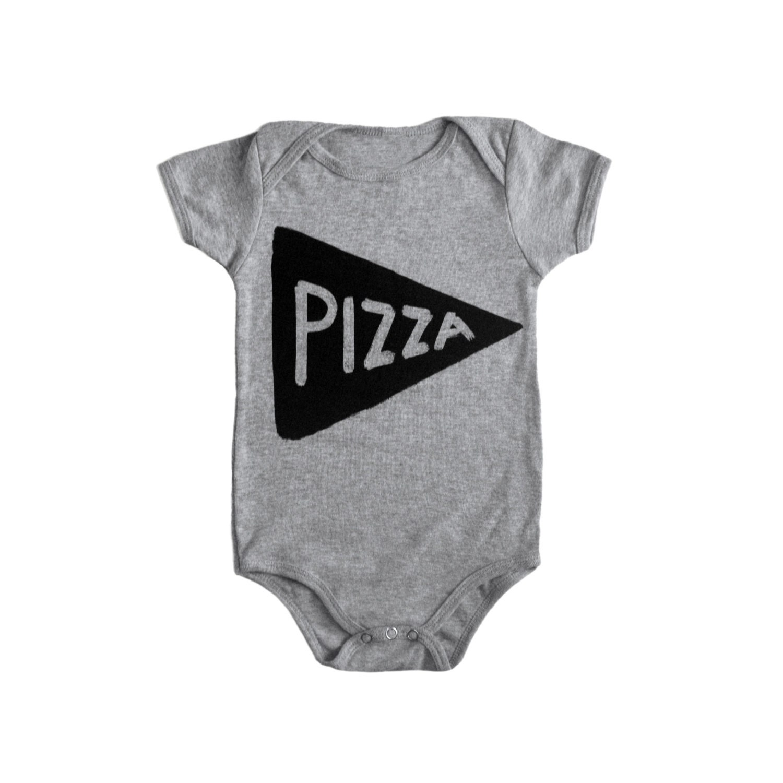 64bdbdbc1 Pizza Slice Baby Bodysuit first mothers day gift mom gift | Etsy