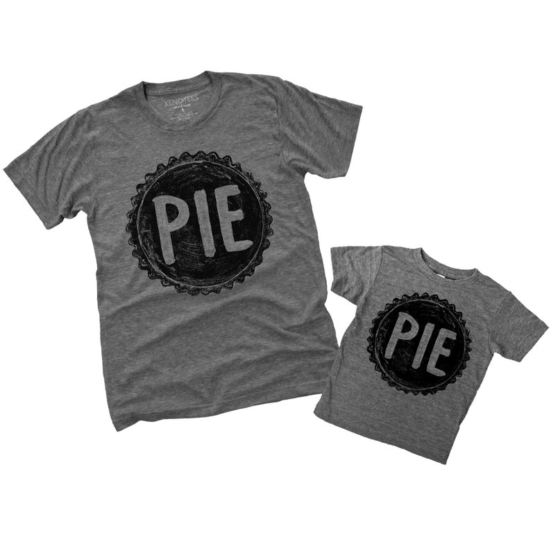 Father Son Matching Pie T Shirts, unique gifts, matching dad, Dad Daughter  shirts, gift for dad from kids, fathers day gift, dad son shirts